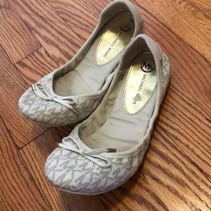Cream logo MK ballet shoes